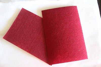 2 X 10.15 Cm's Non-Woven Felt Fabric Kids Diy Grafts.*Red  Or Maroon