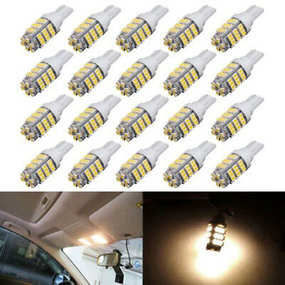20x Warm White T10/921/194 RV Trailer 42SMD Backup Reverse LED Lights Bulbs 12V