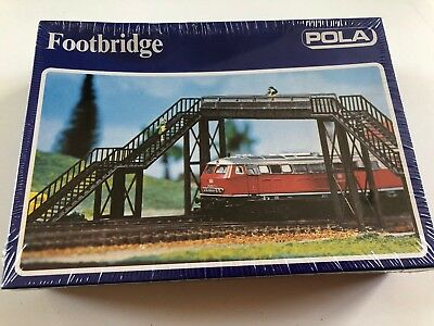 Pola N Scale Railway Pedestrian Footbridge *RARE*