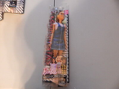 NEW Barbie Fashionistas #72 Tall Hispanic Doll Denim Overalls with Sunglasses