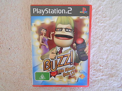 Ps2 Buzz Game The Music Quiz  With Manual V Gd Cond - Fast Post