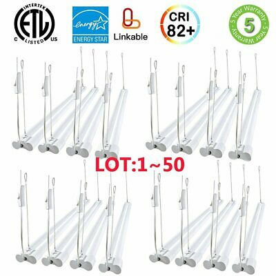 LOT 36W 3600LM 4FT Linkable LED Utility Shop Lights Integrated LED Fixtures US