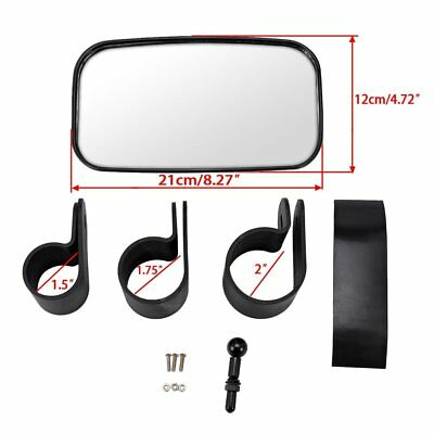 1* Universal & Adjustable Wide Convex Clear Rear View Mirror for UTV off Road