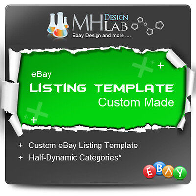 Mobile Friendly Custom ebay Listing Template Design for eBay Shop eBay Store