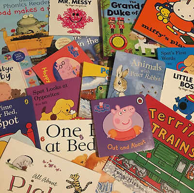 Brand New Bulk Wholesale baby and toddler books. 20 Books Children's Bundle.