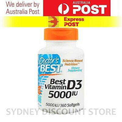 Doctor's Best Vitamin D3 5000 IU 360 Capsules FREE EXPRESS POST!!!!!