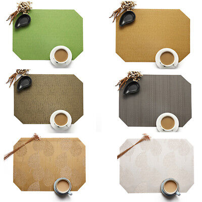 PVC Hotel Tableware Mat Woven Coasters Non-Slip Heat Insulation Pad Placemats