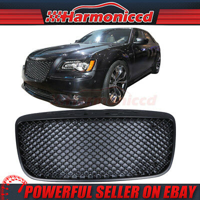 Fits 11-14 Chrysler 300 300C Mesh Style Front Hood Grill Grille Black ABS