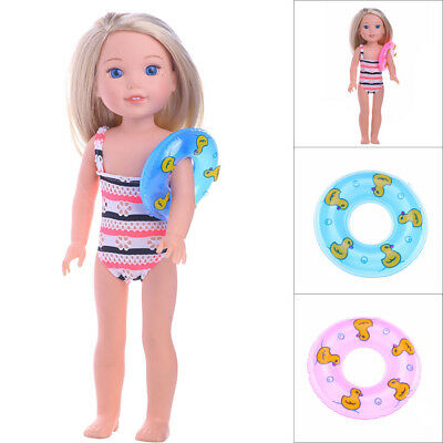 Mini Swim Ring Summer Fun Swimming Pool Float Raft Lilo Lifebuoy For barbie Doll