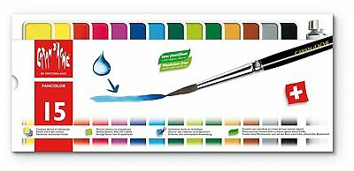 Caran d'Ache Fancolor Gouache 15 Colors Paint Tublets Budding Artists