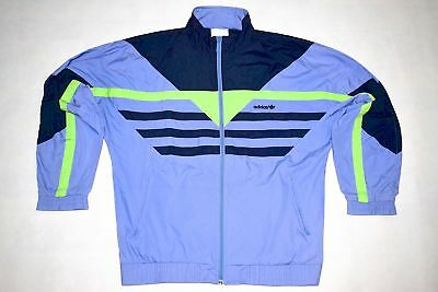 Adidas Trainings Jacke Sport Jacket Track Top Vintage Casual Lila Neon 90er 5 M