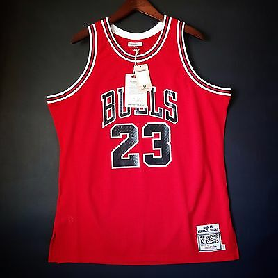 fa12604a726 100% Authentic Michael Jordan Mitchell Ness 85 86 Bulls Jersey Size 48 XL 1  of 6Only ...