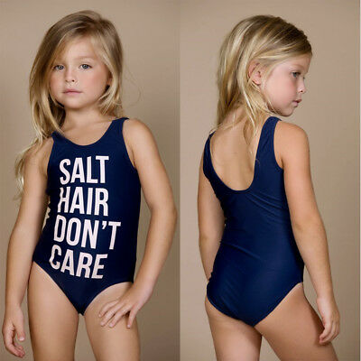 US Toddler Kid Baby Girl One-Piece Swimsuit Tankini Bikini Swimwear Bathing Suit