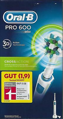 Braun Oral-B Pro 600 Cross Action elektrische Zahnbürste CrossAction