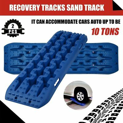 2pcs 10T Car Emergency Recovery Track Traction Plate Snow Mud Road Tyre Board CW