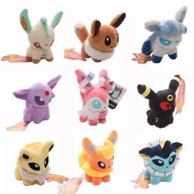 HYM 5''Pokemon Plush Toy Doll Eevee Leafeon Umbreon Jolteon Collection Gifts2018