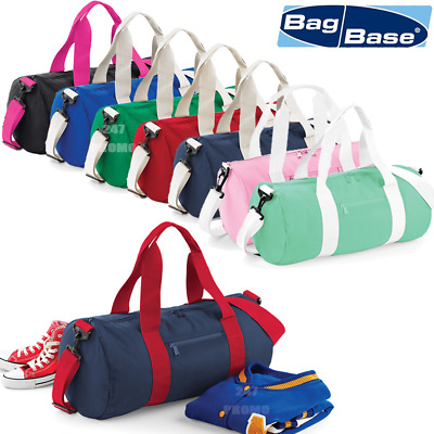 Barrel Bag Holdhall Gym Weekend Travel Cabin Lightweight Shoulder Strap Colours