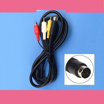 HYM 1.8m Composite 3RCA Video AV Connection Cable Cord for Sega Genesis 2 or 3