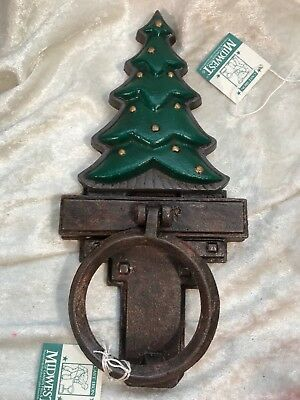Midwest Cannon Falls Cast Iron Christmas Tree Door Knocker & Bottom