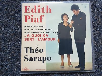 "Edith Piaf & Theo Sarapo -  A quoi ca sert l'amour EP 7"" Single 1962 FRANCE"