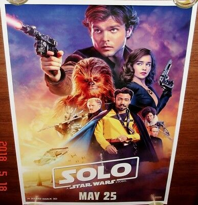Solo: A Star Wars Story (2018) Original Ds Double Sided Poster