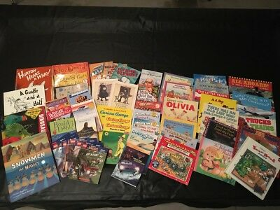 Almost 1 sq foot Box of Random Baby/Toddler/Childrens Books - 50+ books