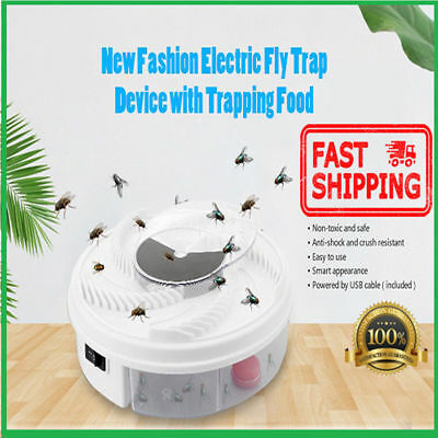 Electric Fly Trap Device with Trapping Food - White USB Cable