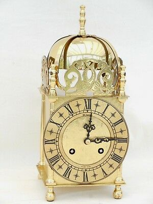 Schatz Brass Lantern, St James, Nell Gwen Carriage Mantle Mantel 8 Day Clock