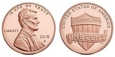 2018 s Proof Lincoln Cent Penny free shipping