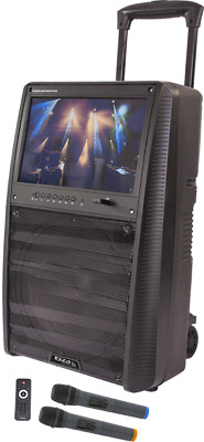 "IBIZA SOUND ""PORT-tft12"" Mobile Batterie Karaoke Système Audio  15"" TFT MONITOR"