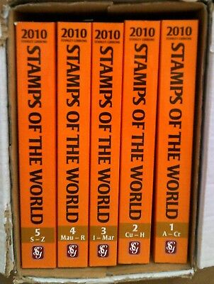 Stanley Gibbons Stamps Of The World Simplified Catalogue 2010 Volumes 1-5