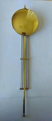 Brass Bob with Grid Pendulum for Quartz Movements Rod Length 325mm Bob Dia 80mm