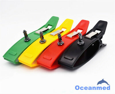 Universal Multiple Color ECG EKG Limb Clamp Clip Electrodes Nickel Plated Sensor