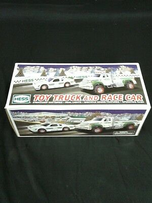 2011 Hess Toy Truck and Race Car  NEW