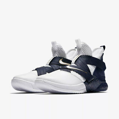 32444ca9a04 Nike Men s Lebron Soldier XII SFG NEW AUTHENTIC White Navy AO4054-100 size  10