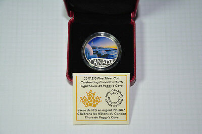 Canada $10 2017 Fine Silver Coin – Canada's 150thLighthouse at Peggy's Cove