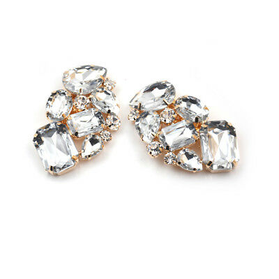 1x Shoes Clips Rhinestone Crystal Flower Shoes Buckle Bridal Wedding Decor YR