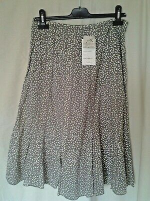 Adini 100/% cotton voile skirt fully lined 20 panel gored style side zip fixed wb