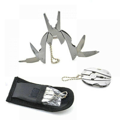 Pocket Gadget Multi Function Tool Set Mini Foldaway Keyring Pilers Screwdriver