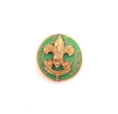 RARE - Assistant Scoutmaster Gold Tone Collar pin, Vertical Safety pin