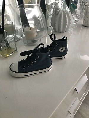 Converse infant high top, navy, UK6 EU 22 used condition, sold as seen