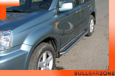 Nissan X-Trail T30 2001-2006 Marche-Pieds Inox Plat / Protections Laterales