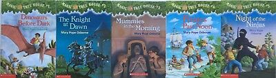 MAGIC TREE HOUSE Volumes 1-5 - Lot of 5 books by Mary Pope Osborne - Very Good