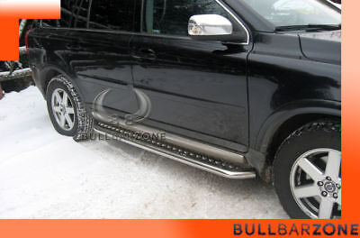 Volvo Xc90 2007-2014 Marche-Pieds Inox Plat / Protections Laterales