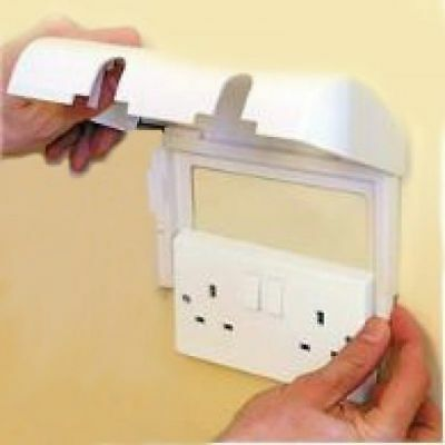 ,Clippasafe Double Socket Protector Electric Plug Cover Baby Child Safety Box,