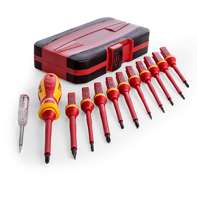 Sealey AK6129 12PC ELECTRICAL QUALITY VDE APPROVED MAGNETIC TIP SCREWDRIVER Set