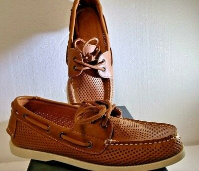 556744655b271 Tommy Hilfiger Men s Medium Brown Leather Bowman3 Shoe New In Box Size 8