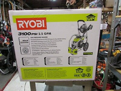 New Ryobi Pressure Washer 3,100-PSI 2.5-GPM Honda Gas 5-in-1 Nozzle Wheeled