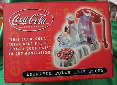 Coca-Cola Brand Animated Polar Bear Phone - New Never Removed From Box