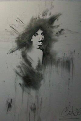 """Original Charcoal Drawing Of """"woman's Portrait"""""""